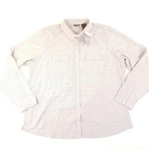 Eddie Bauer L/S Breathable Gray Check Shirt XXL